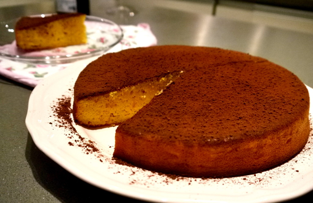 Weekend Baking – Orange Almond Cake with Dark Cocoa Dust