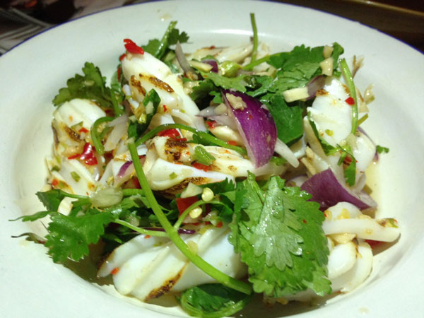 #Chachawan squid salad