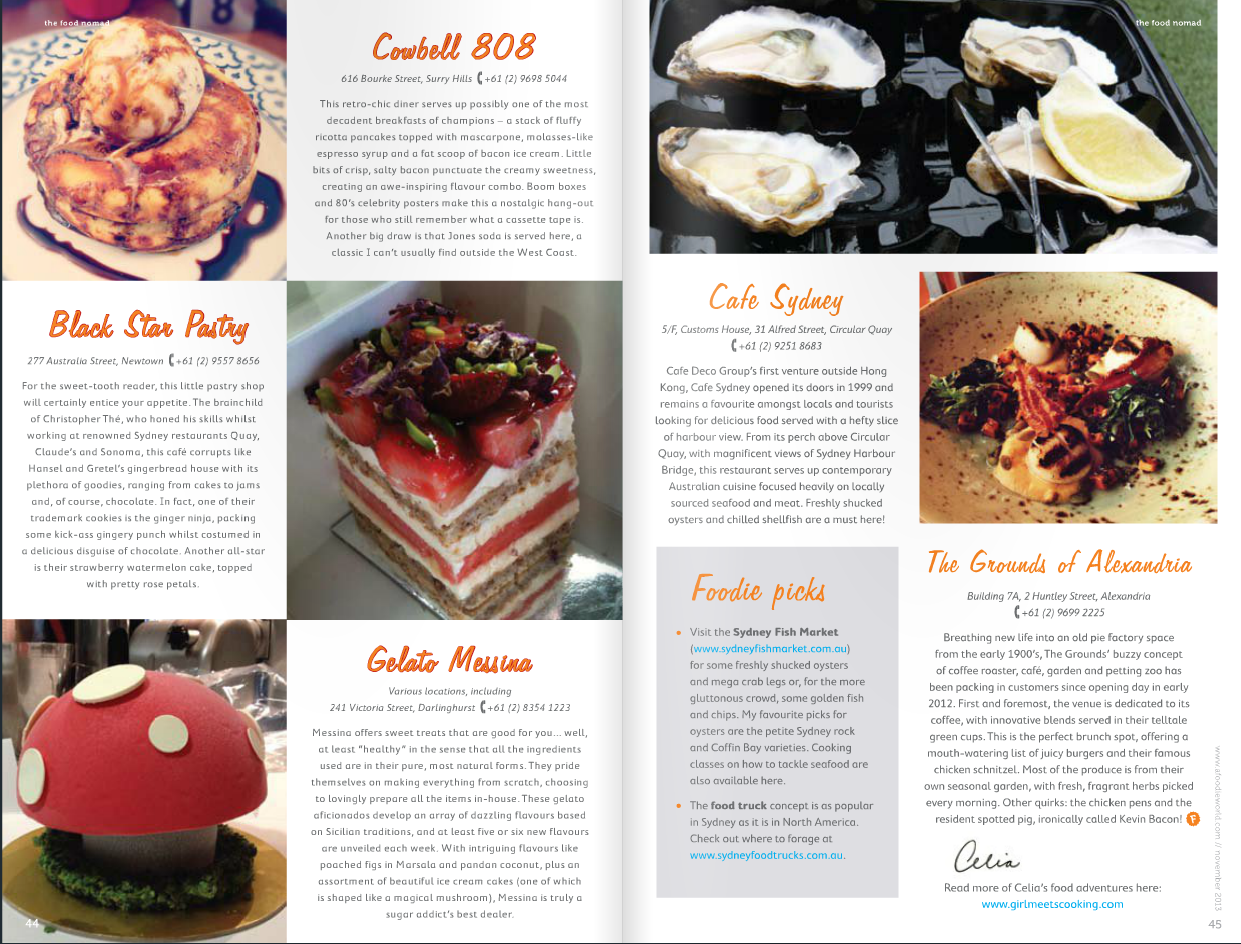 The Food Nomad #foodiemagazine