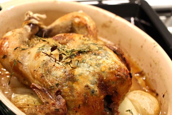 lemon thyme roast chicken