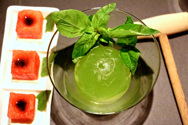 The Woods watermelon basil gin