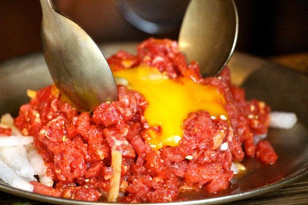 wangbijib korean bbq beef tartar