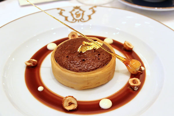 Gaddi's Hong Kong chocolate souffle