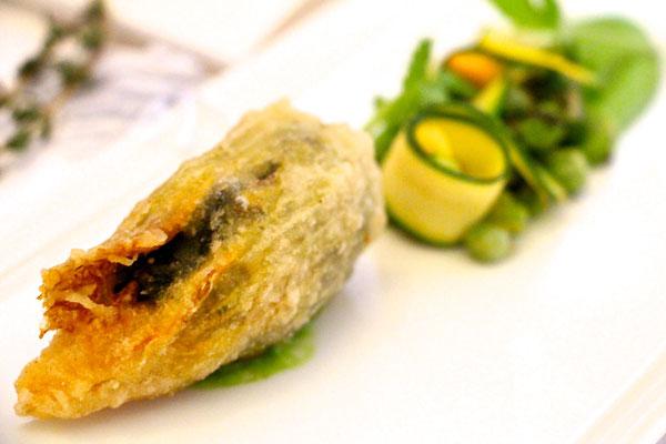Le Manoir aux quat'saisons courgette tempura