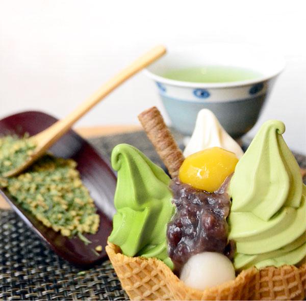 Via Tokyo soft serve ice cream matcha