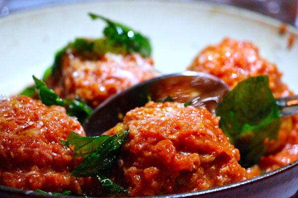Carbone Italian Hong Kong meatballs