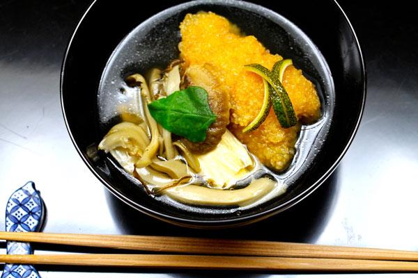 Nakamura Kyoto maitake hamo eel tempura soup
