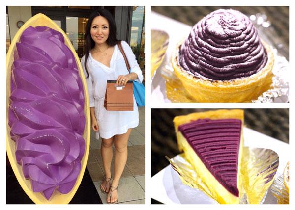 Okinawa The Food Nomad purple tart