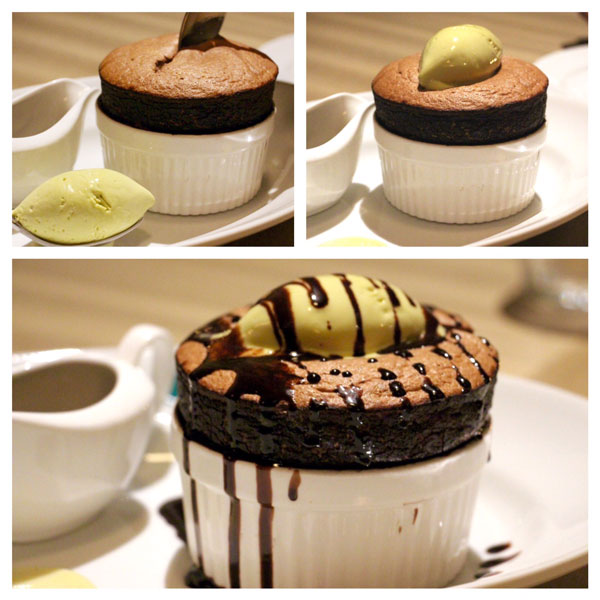 The Continental Hong Kong chocolate souffle