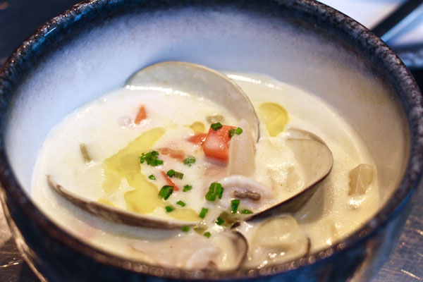 The Walrus oyster bar Hong Kong clam chowder
