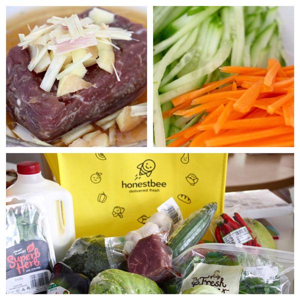 how to make Bun Bo Sao Vietnamese lemongrass beef cold noodle salad recipe  Honest Bee