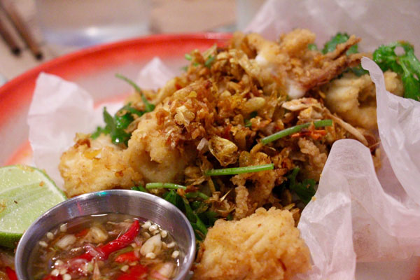 Samsen Hong Kong crispy fried turmeric squid