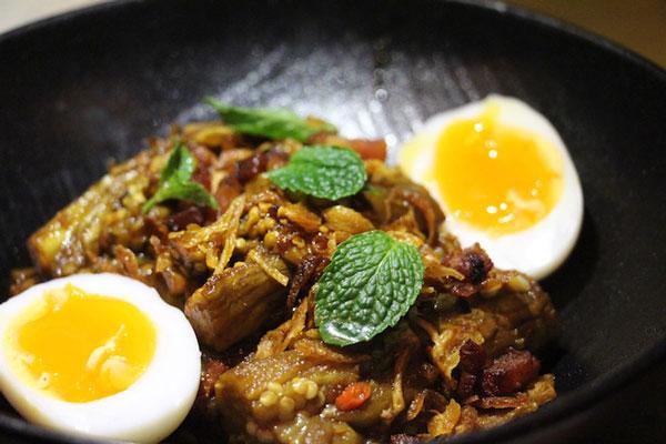 Soul Food Hong Kong smoked eggplant salad